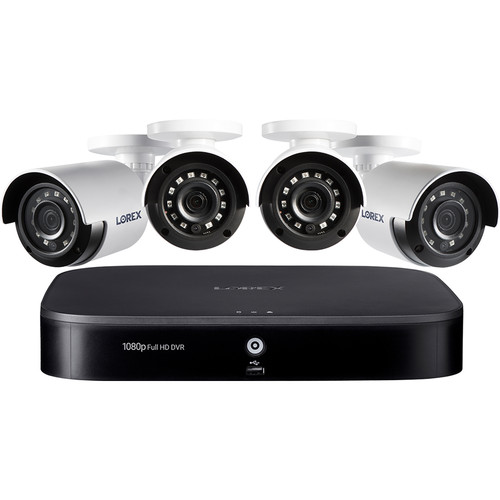 Lorex 8-Channel 1080p DVR with 1TB HDD & 4 1080p Outdoor Night Vision MPX Bullet Cameras