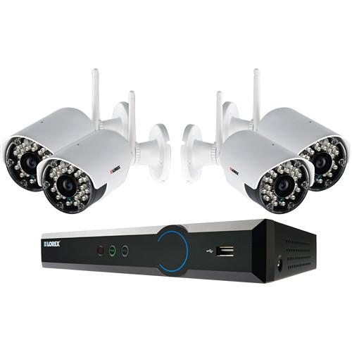 Lorex by FLIR LH034 Eco Blackbox3 4-Ch 1TB HDD DVR and Four Wireless Outdoor Cameras
