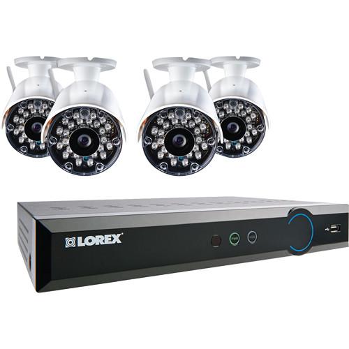 Lorex by FLIR LH038 Eco Blackbox3 8-Ch 1TB HDD DVR and Four Wireless Outdoor Cameras