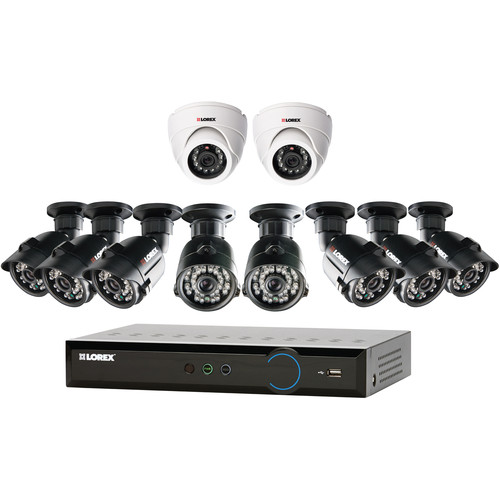 Lorex by FLIR Eco Blackbox3 16-Ch 2TB HDD DVR with Eight Bullet and Two Dome Cameras