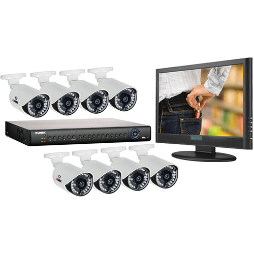 Lorex by FLIR LH1462001 16-Channel DVR Kit with Cameras and Monitor