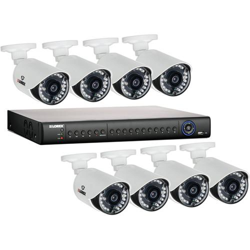 Lorex by FLIR LH1462001 16-Channel 2TB HDD DVR with 8 Outdoor Night Vision Cameras