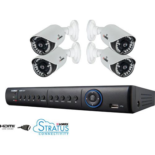 Lorex by FLIR 8-Channel 1TB HDD DVR with 4 x Day/Night Cameras Surveillance System