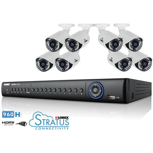 Lorex by FLIR ECO4 Stratus 8-Channel 1TB HDD DVR with 8 Day/Night Cameras Surveillance System