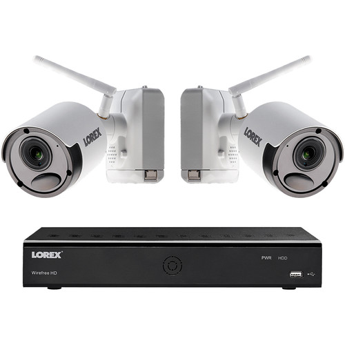 Lorex 6-Channel 1080p DVR with 1TB HDD & 2 1080p Wire-Free Night Vision Bullet Cameras