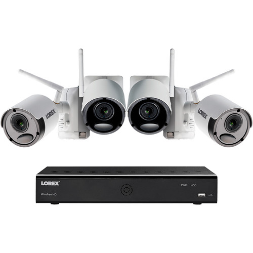 Lorex 6-Channel 1080p DVR with 1TB HDD & 4 1080p Wire-Free Night Vision Bullet Cameras