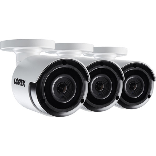 Lorex 4MP Outdoor Network Bullet Camera with Color Night Vision (3-Pack)