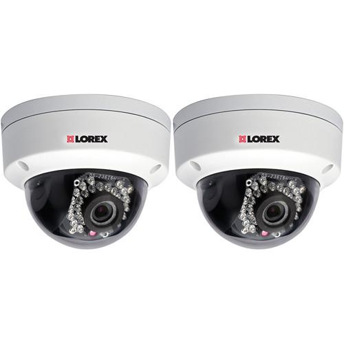 Lorex by FLIR LND2152 Day/Night Outdoor IP Dome Cameras (2-Pack)