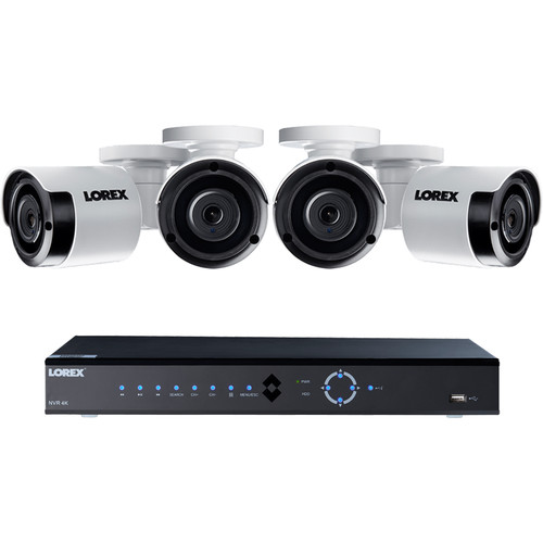 Lorex 8-Channel 4K UHD NVR with 2TB HDD & 4 5MP Night Vision Bullet Cameras