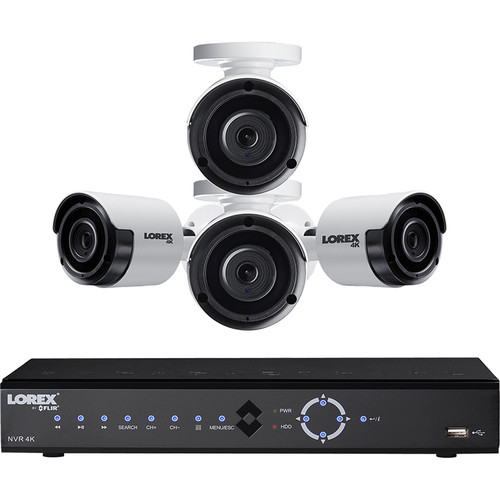 Lorex 8-Channel 4K UHD NVR with 2TB HDD & 4 4K Night Vision Bullet Cameras
