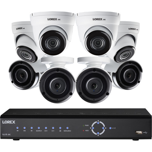 Lorex Includes 4 Bullet 4K, 4 Domes 4K With 3 Terabytes Nvr