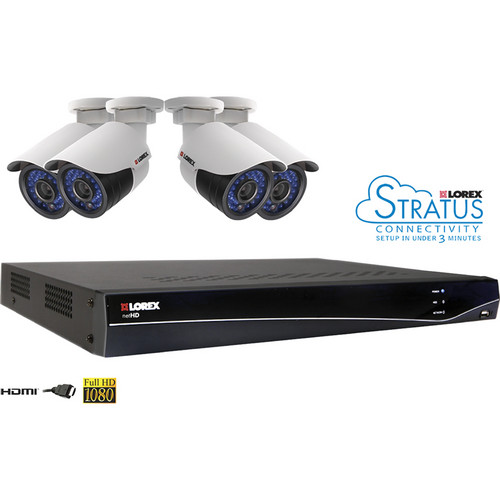 Lorex by FLIR 8-Ch 2TB Network Video Recorder with 4 x HD IP Cameras