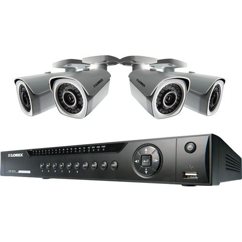 Lorex by FLIR 8-Ch NVR with 4 Bullet Cameras