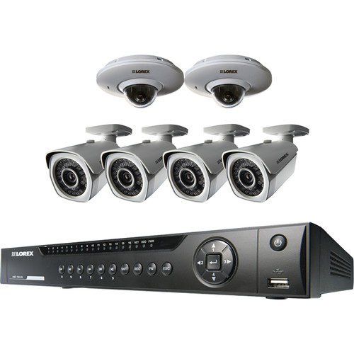 Lorex by FLIR 8-Channel 1080p NVR with 2TB HDD and 4 Bullet & 2 PTZ Dome 2.1MP Night Vision Cameras