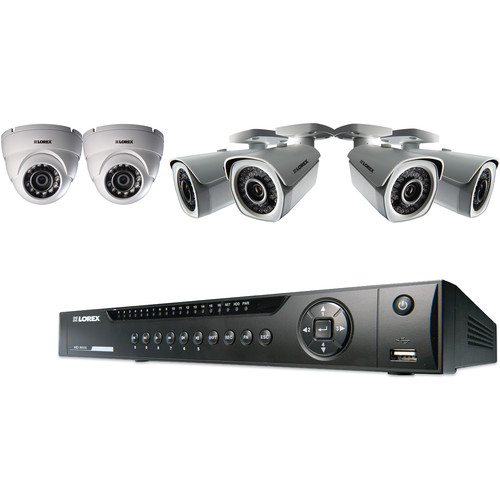 Lorex by FLIR 8-Ch NVR with 4 Bullet & 2 Dome Cameras