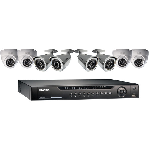 Lorex by FLIR 8-Ch NVR with 4 Bullet & 4 Dome Cameras