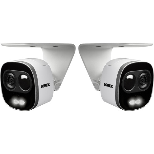 Lorex LNWCM23X 1080p Outdoor Active Deterrence Wi-Fi Camera with Night Vision & 16GB microSD Card (2-Pack)