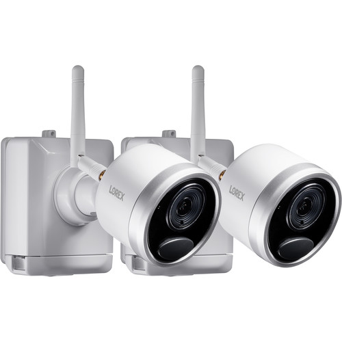 Lorex LWB4801AC2 1080p Outdoor Wire-Free Bullet Camera with Night Vision (2-Pack)