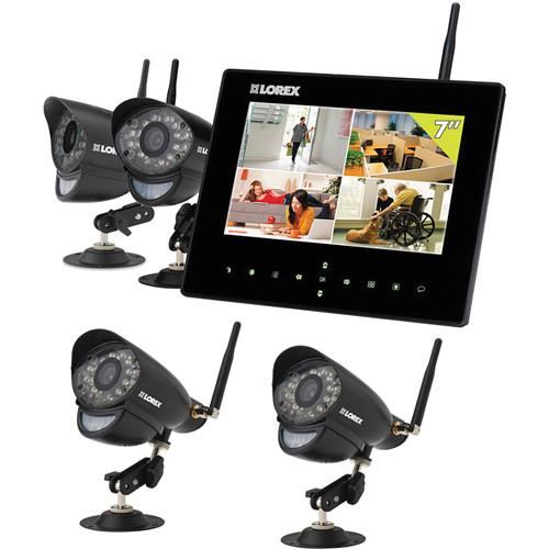 Lorex by FLIR Lorex LIVE SD7+ 4-Channel Wireless Video Monitoring Kit