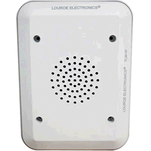 Louroe TLM-W Two-Way Speaker with Microphone (White)