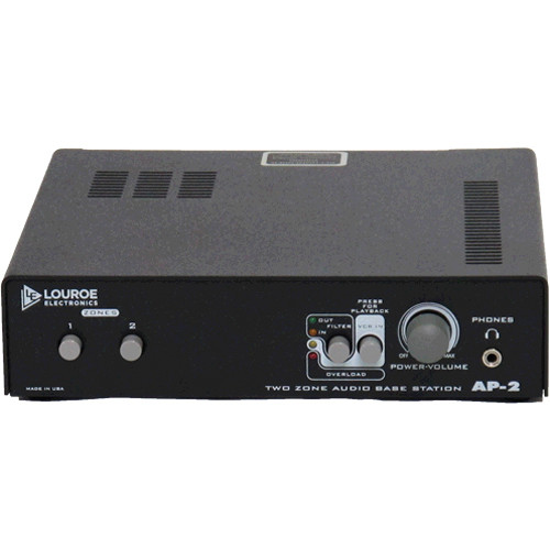 Louroe AP-2 2-Zone Audio Monitoring Base Station