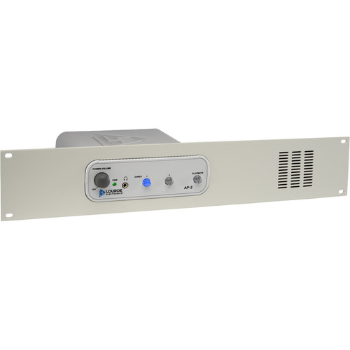 Louroe AP-2 2-Zone Audio Monitoring Base Station with Rack Mount