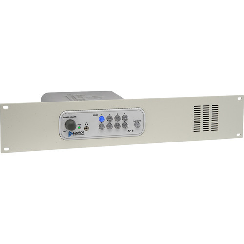 Louroe AP-8 8-Zone Audio Monitoring Base Station with Rack Mount