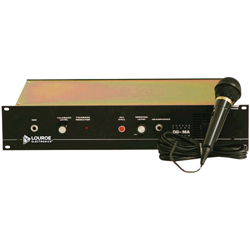 Louroe LE-175 DG-MA Monitor / Talkback Amplifier (Black Anodized)