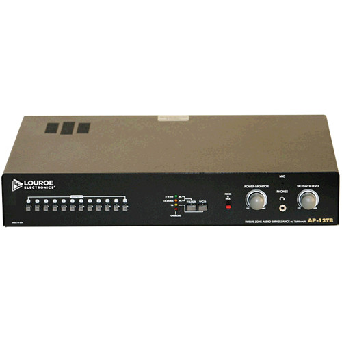 Louroe AP-12TB 12-Zone Non-Alarming Audio Monitoring Base Station