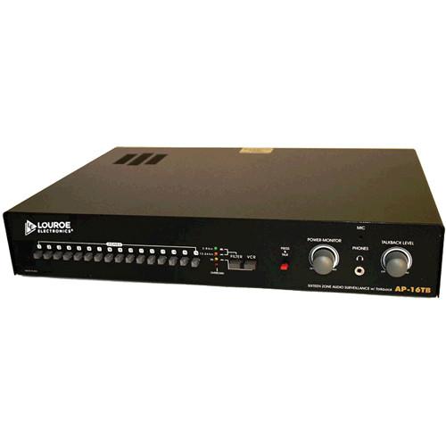 Louroe AP-16TB 16-Zone Non-Alarming Audio Monitoring Base Station