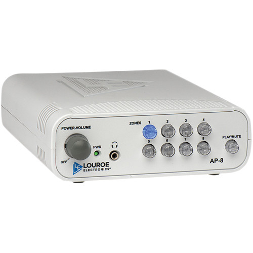 Louroe 8-Zone Manual Audio Monitoring Base Station