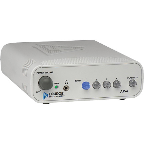 Louroe 4-Zone Manual Audio Monitoring Base Station