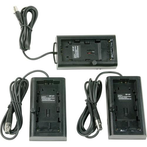 Lowel Blender Battery Sled for Sony L/M and Panasonic CGR-D Batteries (3-Pack)