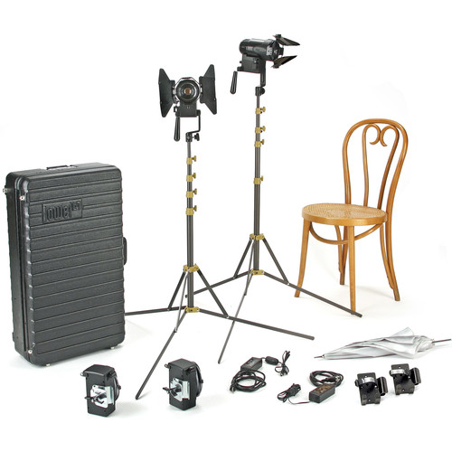 Lowel PRO Power Tungsten LED 2-Light AC Kit with TO-84Z Hard Case