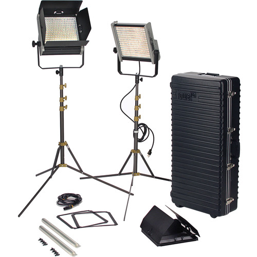 Lowel Prime Location Tungsten LED 2-Light Kit with Anton Bauer Gold Battery Mount
