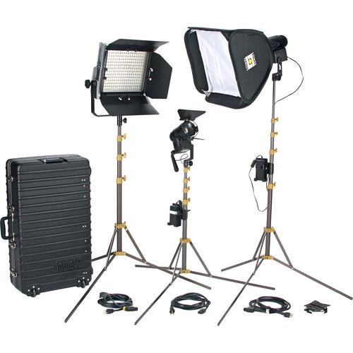 Lowel Prime Location Plus 2 Pro LED 3-Light Kit (Anton Bauer Gold Mount, Daylight)