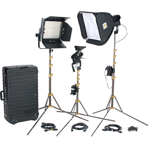 Lowel Prime Location Plus 2 Pro LED 3-Light Kit (Anton Bauer Gold Mount, Daylight)