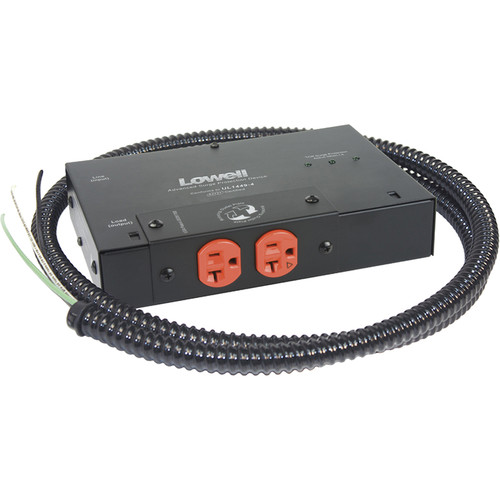 Lowell Manufacturing Compact Surge Suppressor-20A, 2 IG-Outlets, Hardwired
