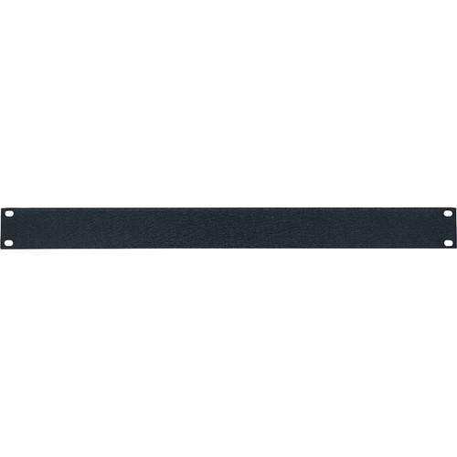 Lowell Manufacturing Rack Panel-Blank-1U, 1/8In Flat Aluminum (Textured Black)