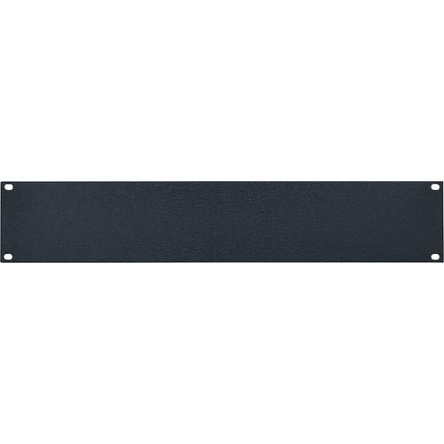 Lowell Manufacturing Rack Panel-Blank-2U, 1/8In Flat Aluminum (Textured Black)