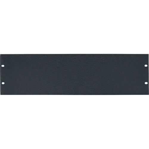 Lowell Manufacturing Rack Panel-Blank-3U, 1/8In Flat Aluminum (Textured Black)