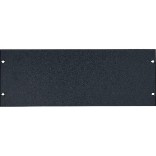 Lowell Manufacturing Rack Panel-Blank-4U, 1/8In Flat Aluminum, 6-Pak (Textured Black)