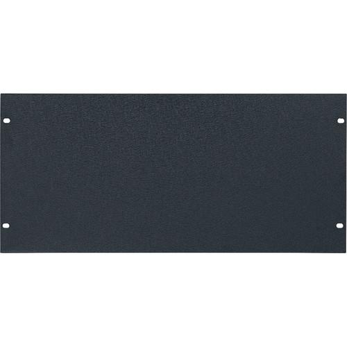 Lowell Manufacturing Rack Panel-Blank-5U, 1/8In Flat Aluminum (Textured Black)