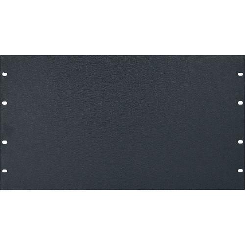 Lowell Manufacturing Rack Panel-Blank-6U, 1/8In Flat Aluminum  (Textured Black)