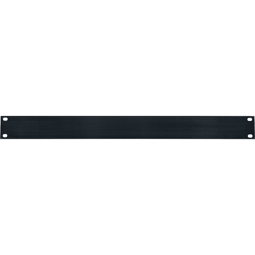 Lowell Manufacturing Rack Panel-Blank-1U, Flat (Brushed Black Anodized Aluminum)