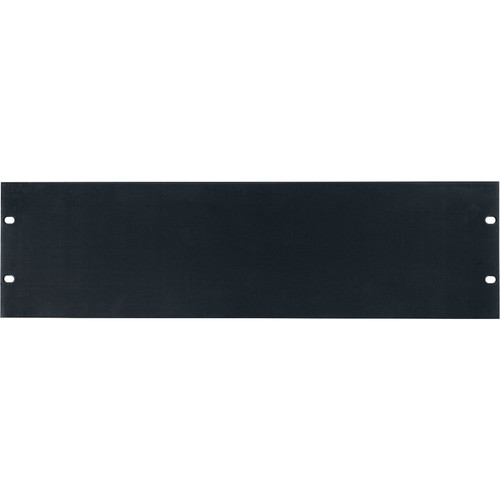 Lowell Manufacturing Rack Panel-Blank-3U, Flatt (Brushed Black Anodized Aluminum)