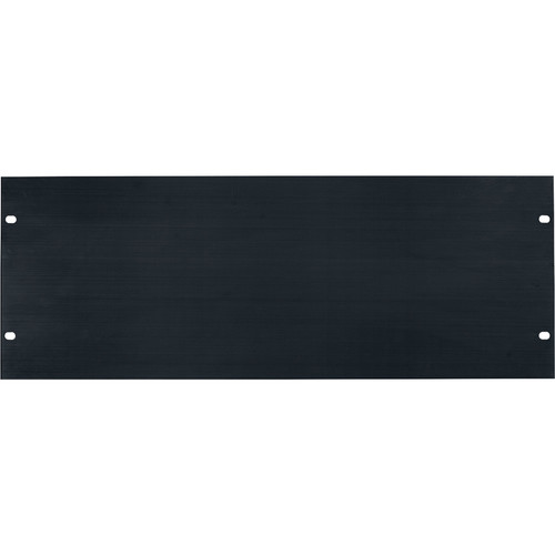 Lowell Manufacturing Rack Panel-Blank-4U, Flatt (Brushed Black Anodized Aluminum)