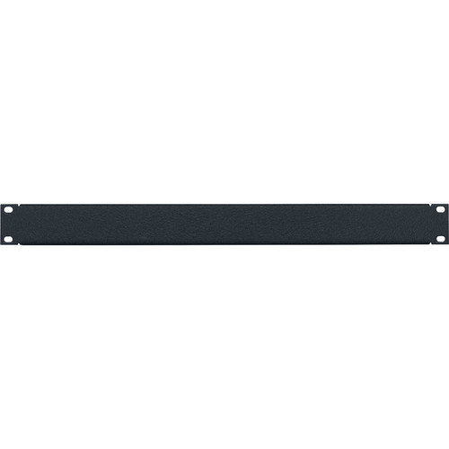 Lowell Manufacturing Rack Panel-Blank-1U, 16Ga Flanged Aluminum, Textured Black