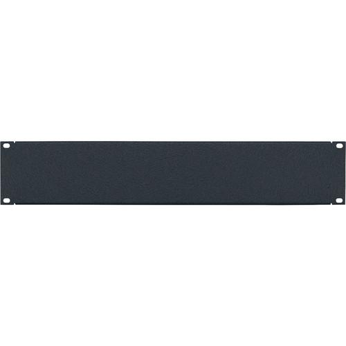 Lowell Manufacturing Rack Panel-Blank-2U, 16Ga Flanged Aluminum (Textured Black)