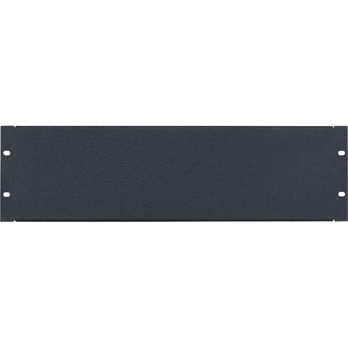 Lowell Manufacturing Rack Panel-Blank-3U, 16Ga Flanged Aluminum (Textured Black)